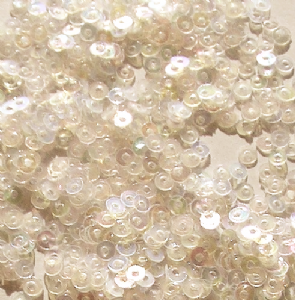 CLEARANCE Large Pack 3mm Flat Round Sequins.  Silky Ivory.